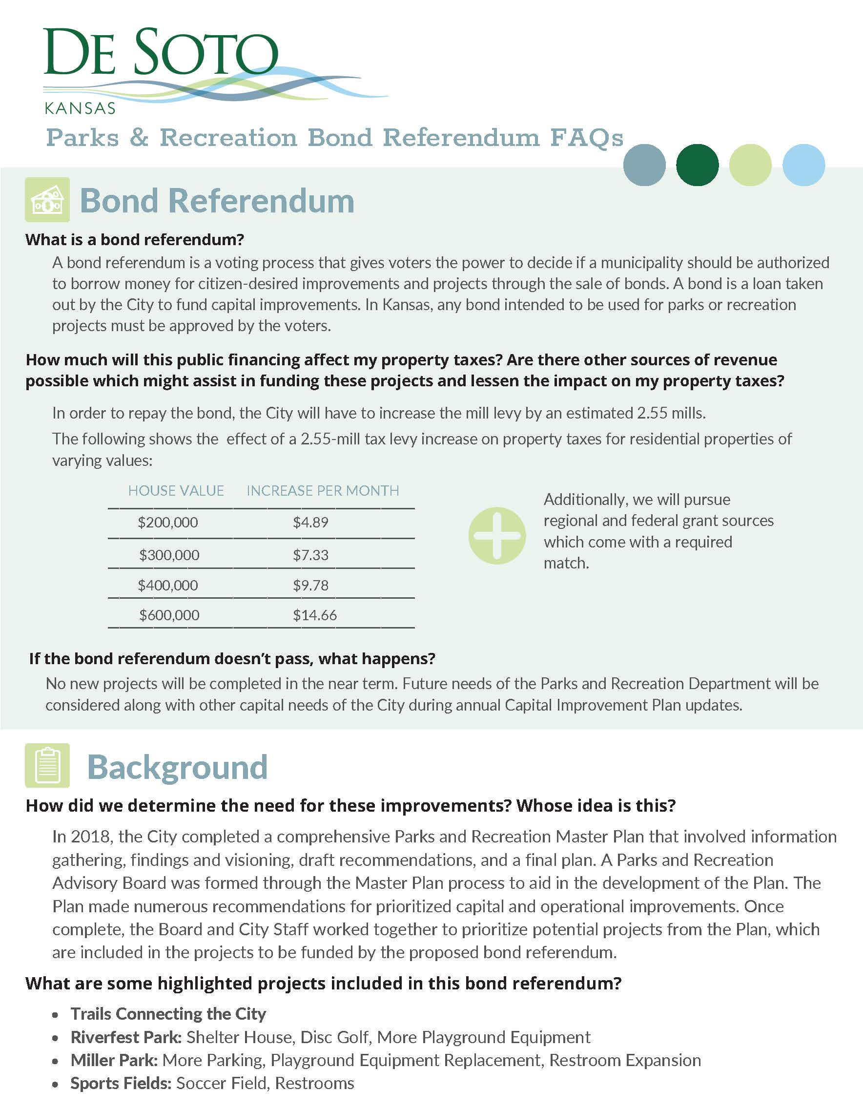 Bond Referendum FAQs1